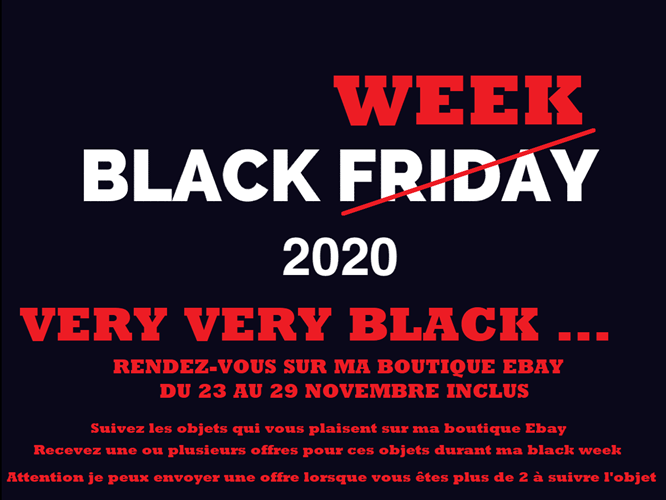 la BLACK WEEK arrive sur la boutique Ebay