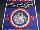 Affiche ancienne  : loterie pour les aveugles militaires - Photo