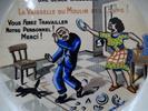 Cendrier humoristique de la faïencerie Moulins des Loups - Photo