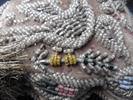 Coussin pique-aiguilles, art populaire Iroquois 2 - Photo
