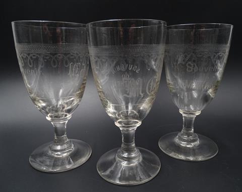 3 verres à absinthe, verrerie de Monthey - Photo 1