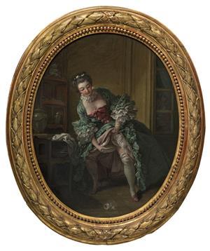 La jupe relevée par François Boucher